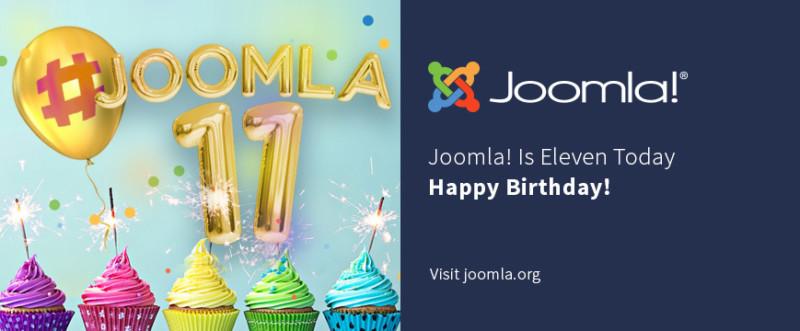 Joomla! is vandaag elf geworden