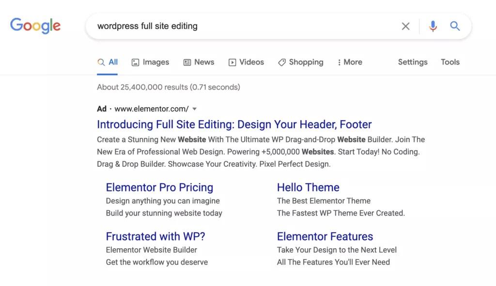 Discussie over dubieuze Google Ads van Elementor
